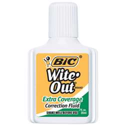 Bic Wite Out Correction Fluid Extra Coverage By Bic Usa