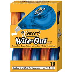 Bic Wite Out Ez Correct Correction Tape 10Pk By Bic Usa