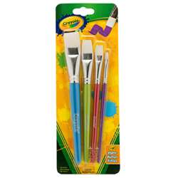 Crayola Big Paintbrush Set Flat 4Pk, BIN053520
