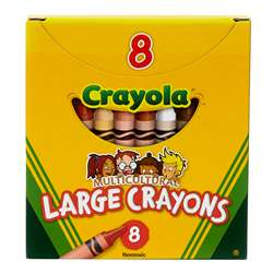 Multicultural Crayons Lrg 8-Pk By Crayola