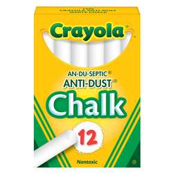 Chalk Anti-Dust White 12 Ct By Crayola