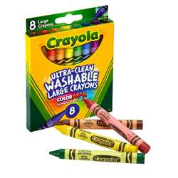 Washable Crayons Large 8Ct Peggable Box By Crayola