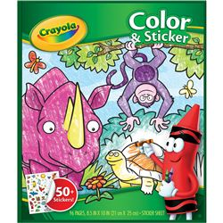 Crayola Color & Sticker Animals, BIN40216
