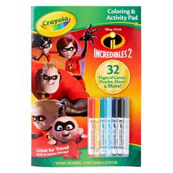 Colorng & Activty Pad Incredibles 2 with Markers, BIN40355