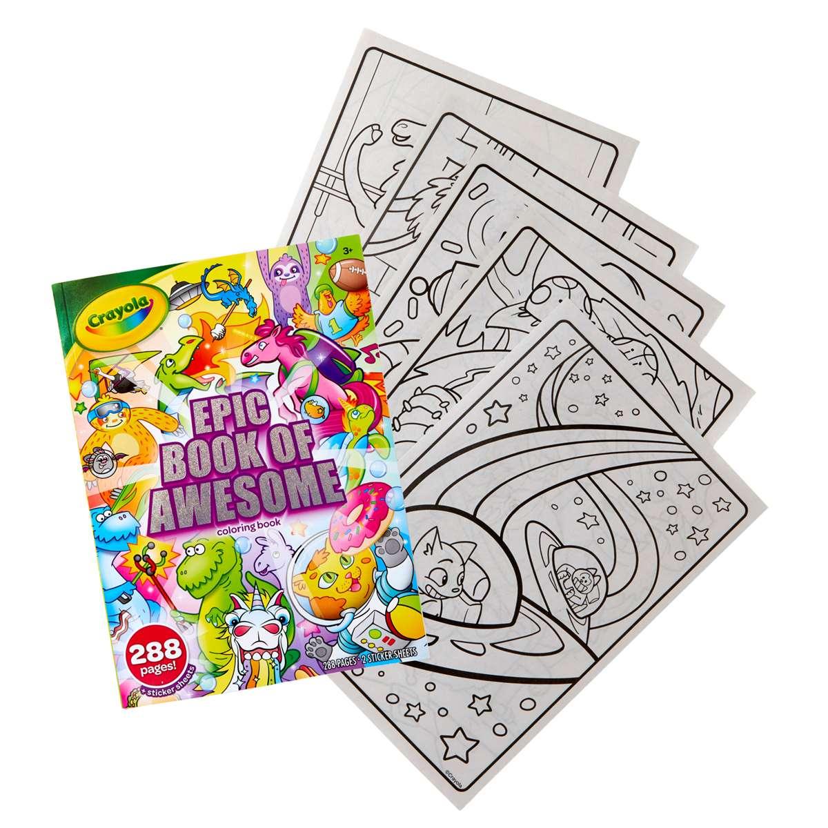 288pg Coloring Book Epic Adventure Bin40585 Crayola Art Activity Books K12 School Supplies Teacher Supplies