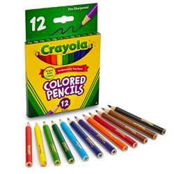 Colored Pencils 12 Half Length By Crayola