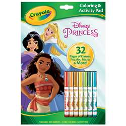 Colrng & Actvty Pad Disney Princess with Markers, BIN45807