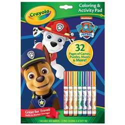 Coloring & Activity Pad Paw Patrol with Markers, BIN46918