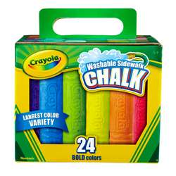 Crayola Washable Sidewalk Chalk 24 Ct By Crayola