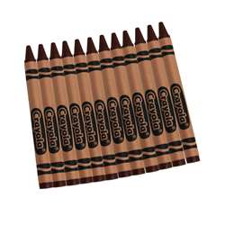 Crayola Bulk Crayons 12 Count Brown By Crayola