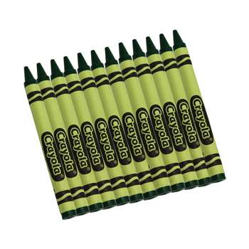 Crayola Bulk Crayons 12 Count Green By Crayola