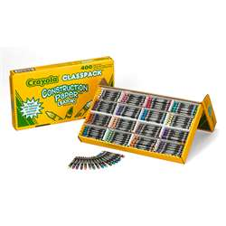 Construction Paper Crayon 400 Ct Class Pk Regular Size By Crayola