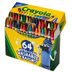 64 Ct Ultra-Clean Washable Crayons Regular Size, BIN523287