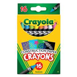 Shop Crayola 16 Ct Crayons For Construction Paper - Bin525817 By Crayola