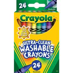 24 Ct Ultra-Clean Washable Crayons Regular Size, BIN526924