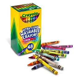 48 Ct Ultra-Clean Washable Crayons Regular Size, BIN526948