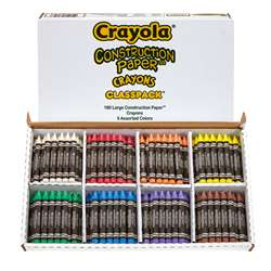 Crayola Construction Paper Crayons Class Pk By Crayola