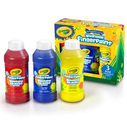 3 Ct Washable Fingerpaint Bold Colors, BIN551310