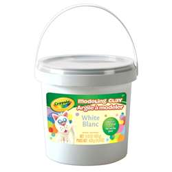 1lb Bucket Modeling Clay White, BIN571353