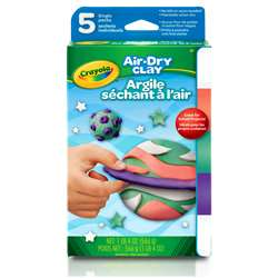 Air Dry Clay 5Ct Bright Variety Pack, BIN572001