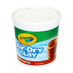 Crayola Air Dry Clay 5Lb Tub Terra, BIN572004
