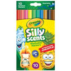 Crayola Silly Scnt 10Pk Slim Marker Washable, BIN585071