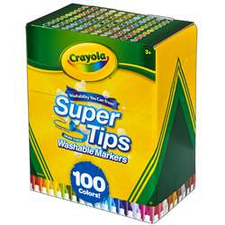 100 Ct Washable Super Tips Markers, BIN585100