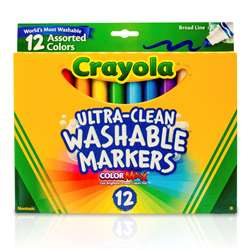 Crayola Washable Markers 12Ct Asst Colors Conical Tip By Crayola