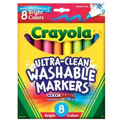 Crayola Washable 8Ct Washable Bright By Crayola