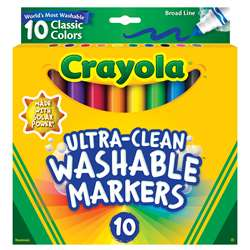 10Ct Washable Color Max Markers Broad Line Ultra-C, BIN587851