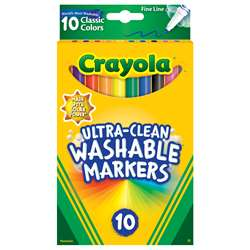 10Ct Fine Line Color Max Markers Ultra-Clean Washa, BIN587852