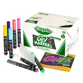 Crayola Gel Fx Markers 80 Ct Class Pk By Crayola