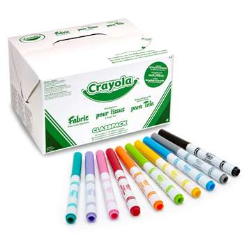 Crayola Fabric Marker 80Ct Class Pk K By Crayola