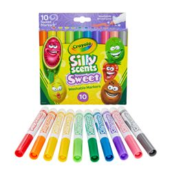 10Ct Silly Scents Sweet Markers Broad Line Washabl, BIN588270
