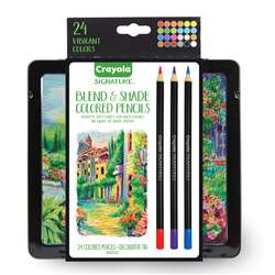 24Ct Blend & Shade Colored Pencils with Tin, BIN682015
