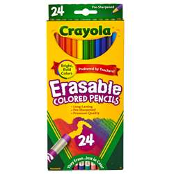 24 Ct Erasable Colored Pencils By Crayola