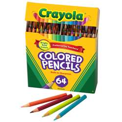 Crayola Colored Pencils 64 Count By Crayola