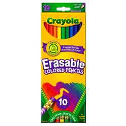 Erasable Colored Pencils 10 Color Set By Crayola