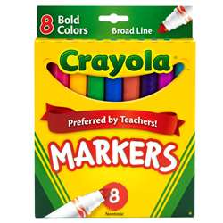 Coloring Marker Bold Conical 8Pk By Crayola