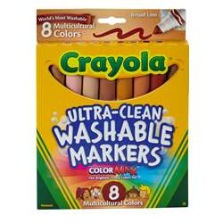 Multicultural Wash Mrk Conical 8Pk By Crayola