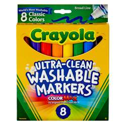 Washable Coloring Markers 8 Colors By Crayola
