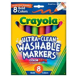 Washable Bold Colors Mkr 8 Pk Conical Tip By Crayola
