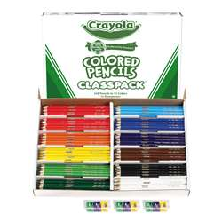 Colored Pencils Full Length 240 Ct Class Pk 12 Assorted Colors By Crayola