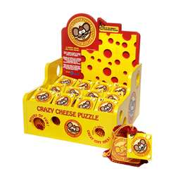 Rack Pop Crazy Cheese Display With 12 Games By Blue Orange Usa
