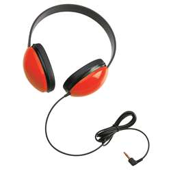 Listening First Stereo Headphones Red By Califone International