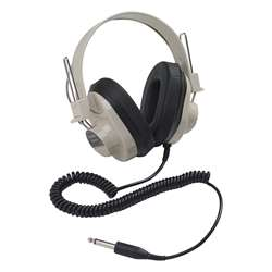 Monaural Headphone 5 Coiled Cord 50-12000 Hz By Califone International