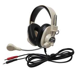 Deluxe Multimedia Stereo Headset W/ Boom Microphone W/ Dual 3.5Mm Plug By Califone International
