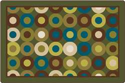 Calming Circles Rectangle 8'x12' Carpet, Rugs For Kids