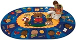 "Sign Say & Play™ Rug* Oval 6'9''x9'5"" Carpet, Rugs For Kids"