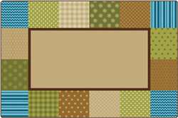 KIDSoft™ Pattern Blocks - Nature 6'x9' Rectangle Carpet, Rugs For Kids